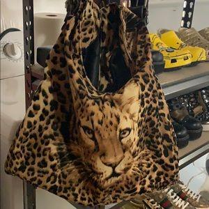 Handbags - Velvet Leopard Bag
